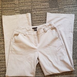 Light Gray Boot Cut Stretch Career Pants